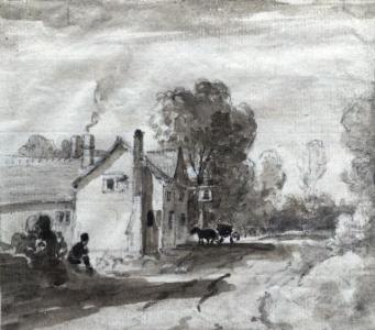 The Bell, Hockliffe by George Arnald [Z693/1]